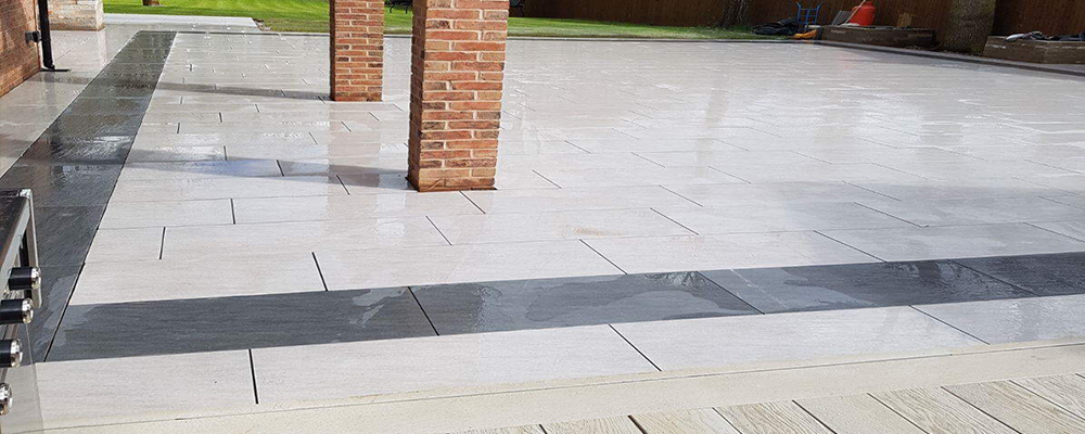 Large porcelain patio