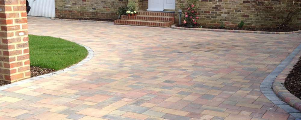 block paved drive multi coloured
