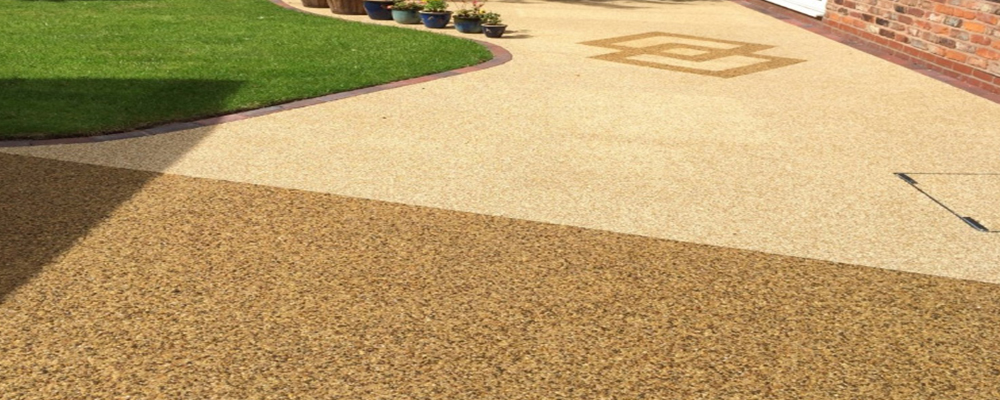 Two Colour Resin Patio ...